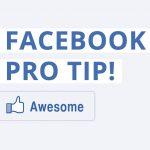 PRO Facebook Tip!