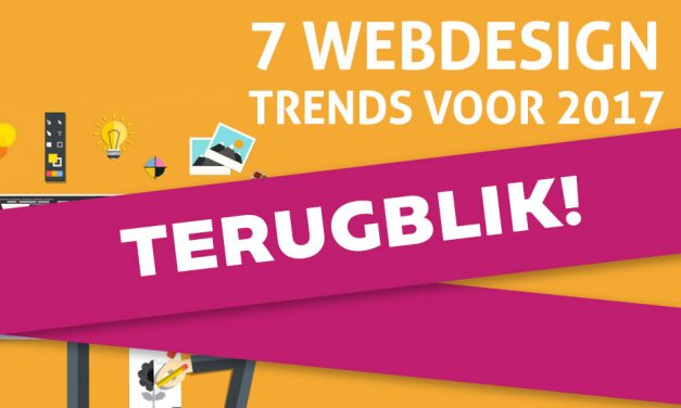 Terugblik webdesign trends 2017